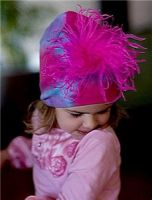 Шапочка Hot Pink Curly Marabou Hat